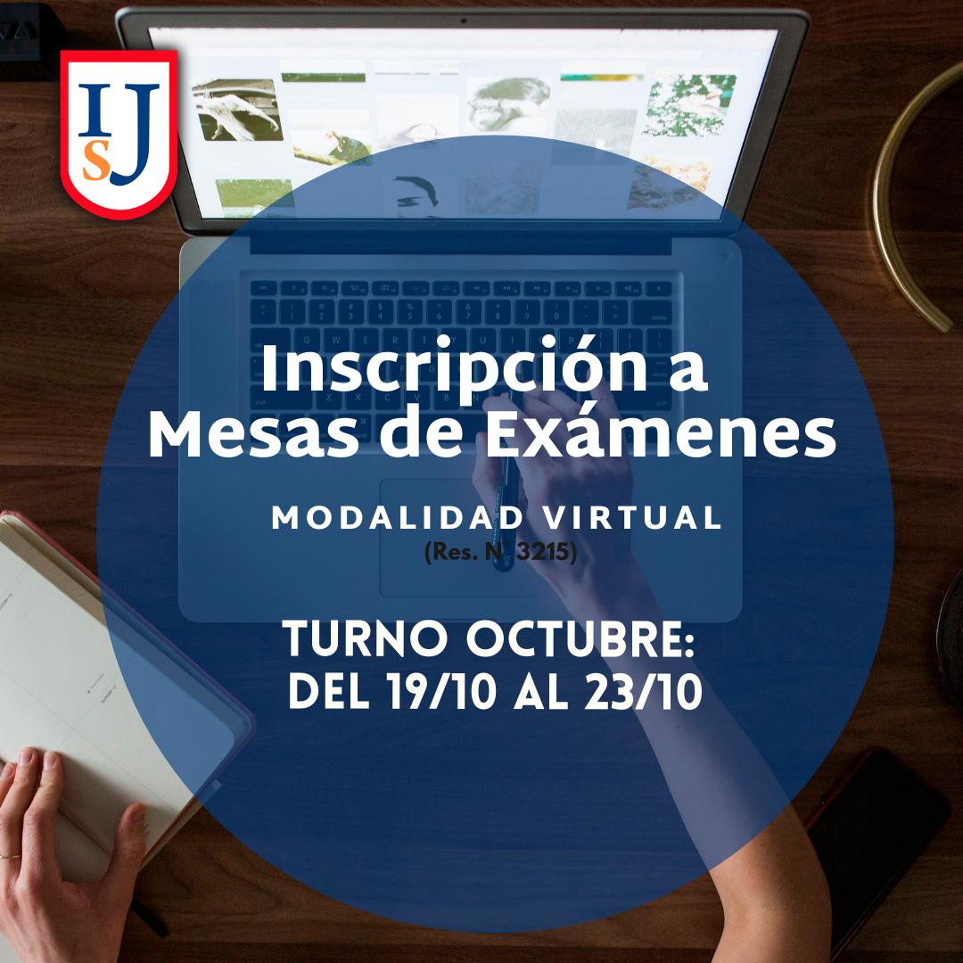 Mesas de Exámenes: Turno Octubre