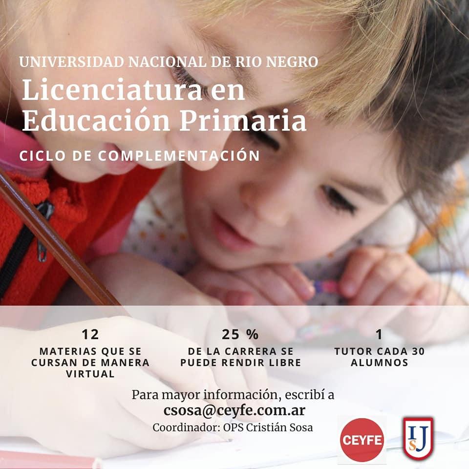 Convenio: Licenciaturas en Educación Inicial y Primaria